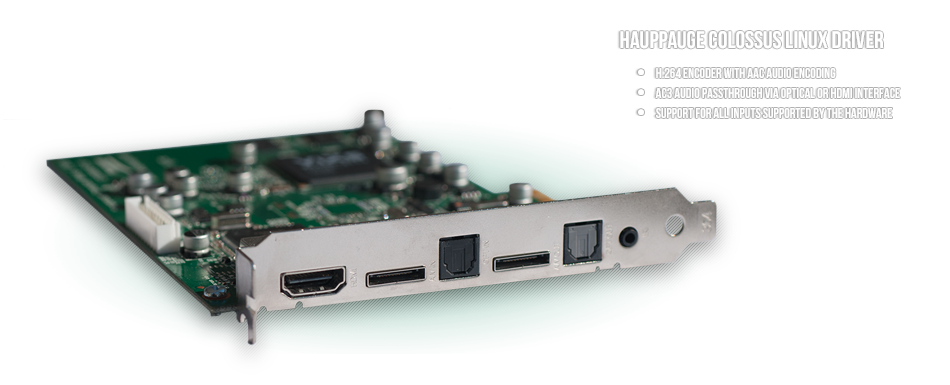 Hauppauge Colossus Linux Driver
